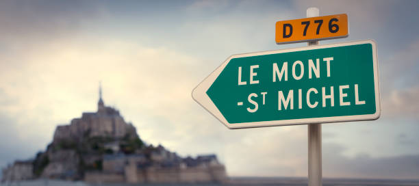 Straßenschild nach Le Mont Saint Michel – Foto