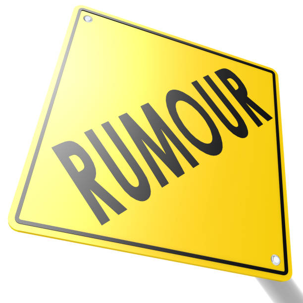 road sign with rumour - defame stock pictures, royalty-free photos & images