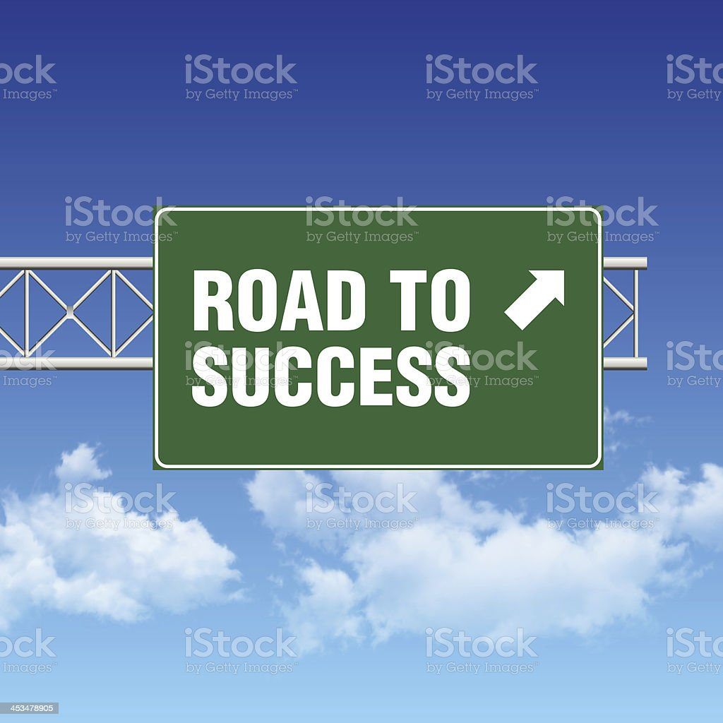 Road Sign with SUCCESS and Sky stock photo