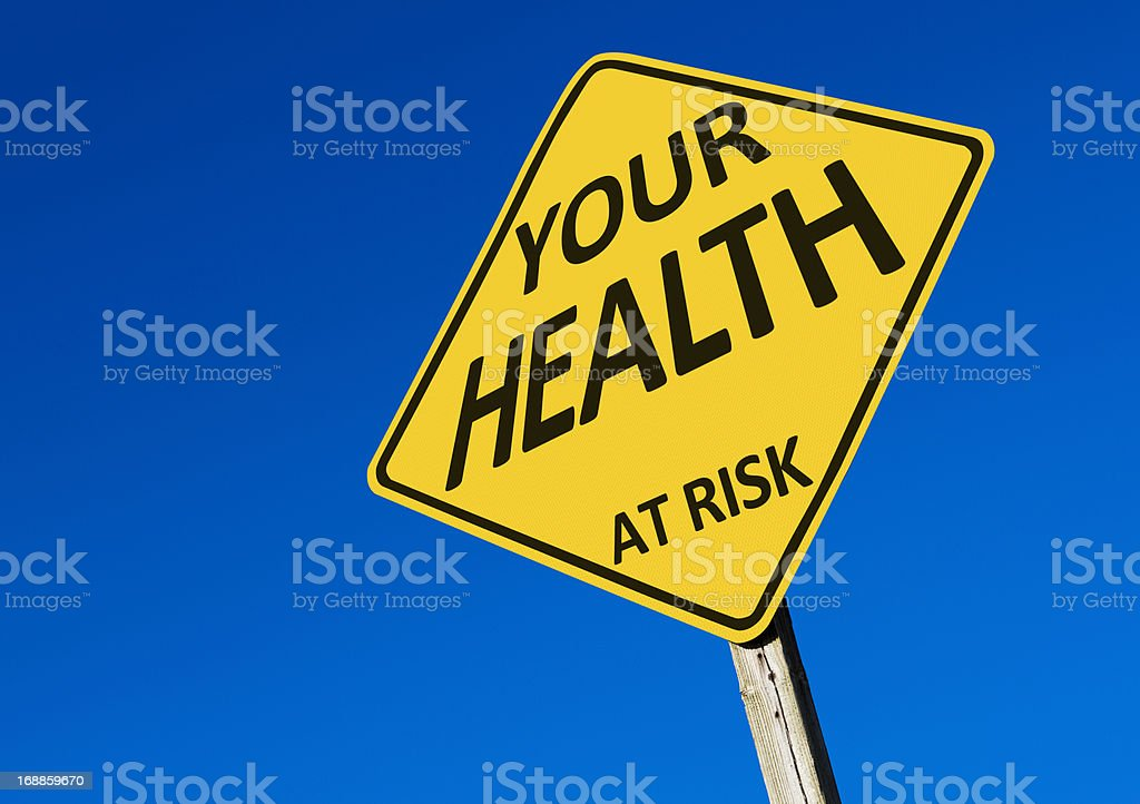 Road Sign; Your Health At Risk royalty-free stock photo