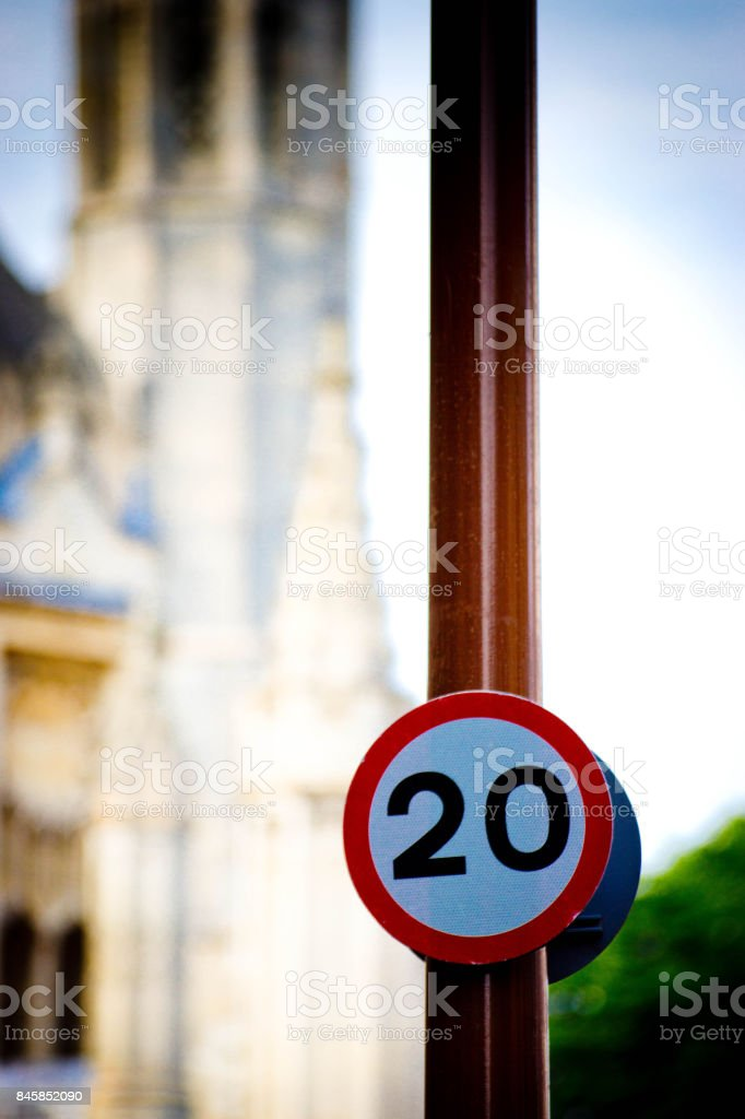 Road signs in Cambridge stock photo