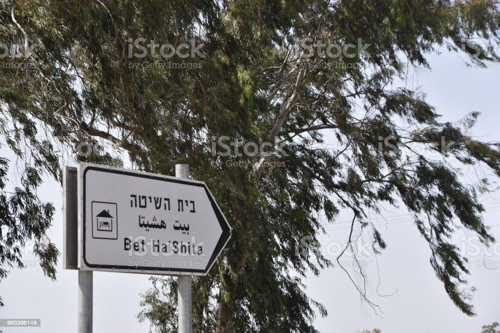 Vägmärken - Royaltyfri Beit She'an Bildbanksbilder