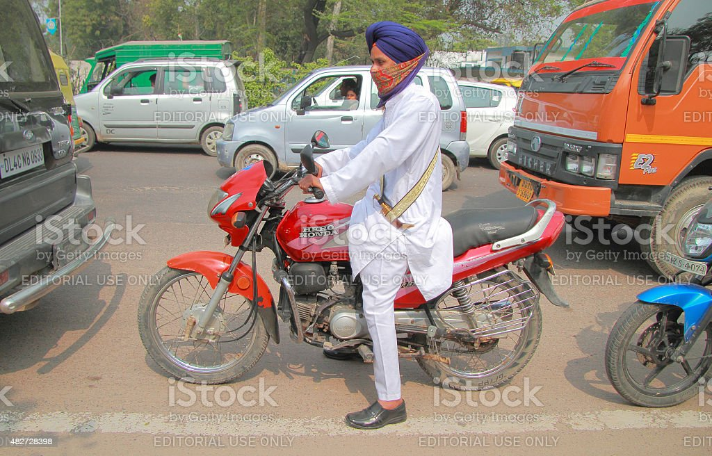 road situation in some poor district of Delhi stock photo