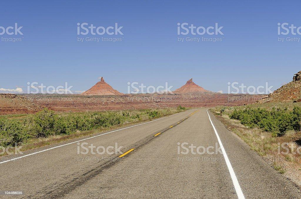Road Through American Southwest royalty-free stock photo