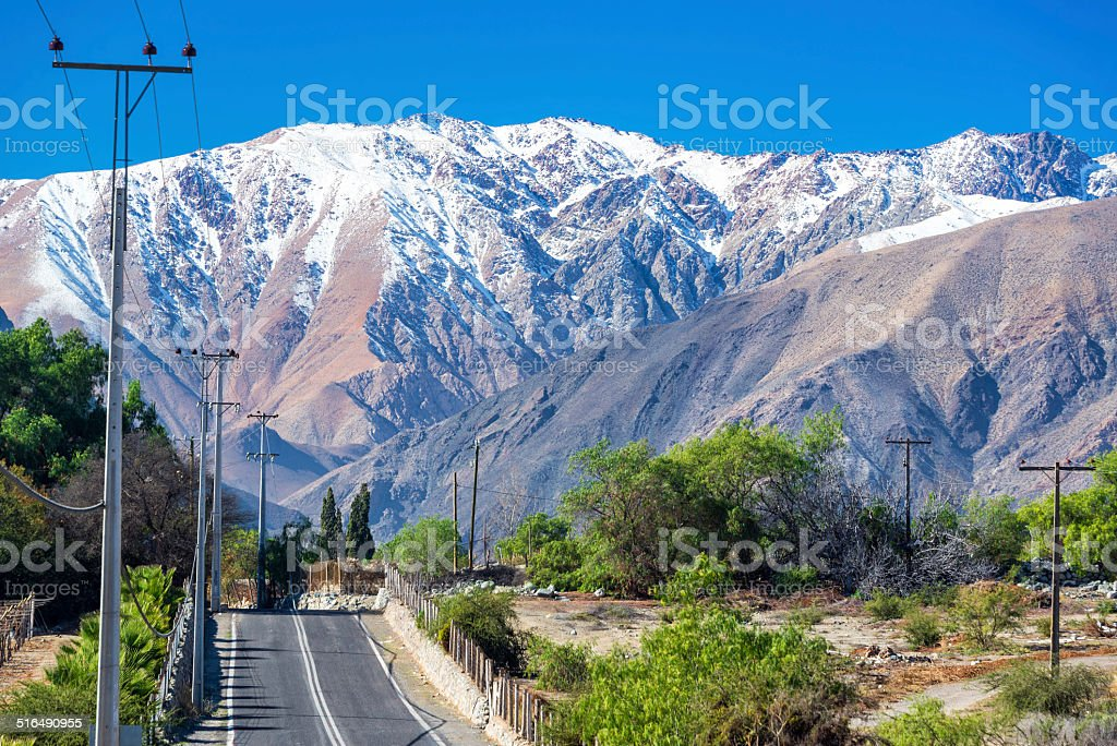 Road Through Andes Mountains stock photo