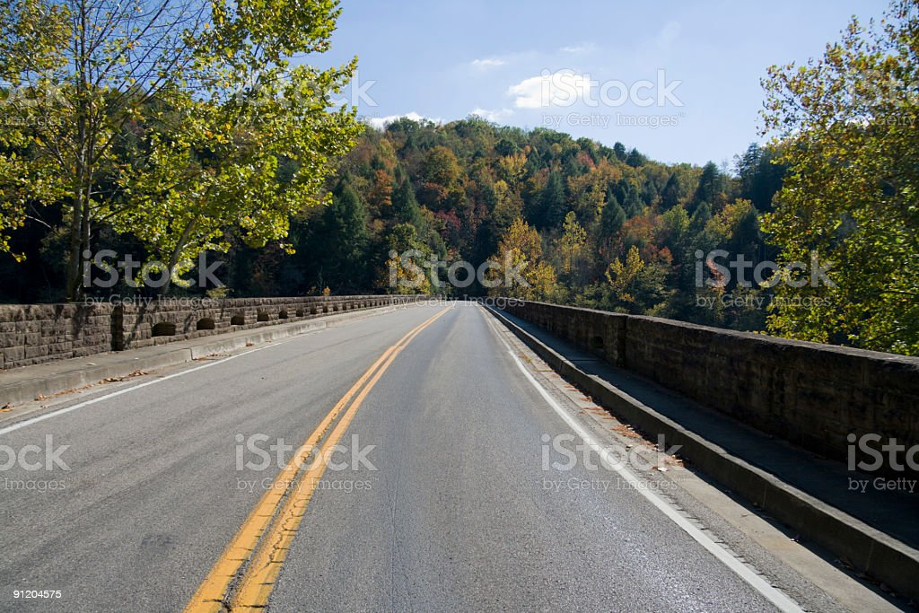 Road through Appalachians royalty-free stock photo