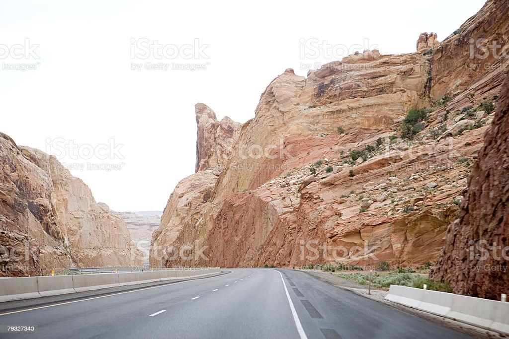 Road through canyon 免版稅 stock photo