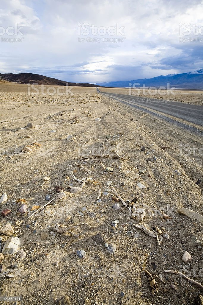 Road through Death Valley royalty-free stock photo