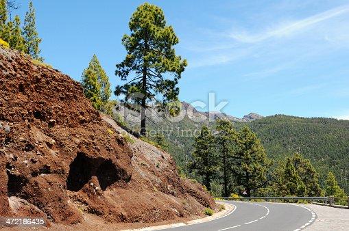 istock road through El Teide national park in tenerife. 472186435