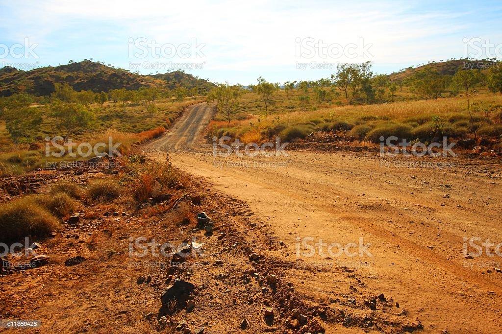 Road through Kimberley, Australia stock photo