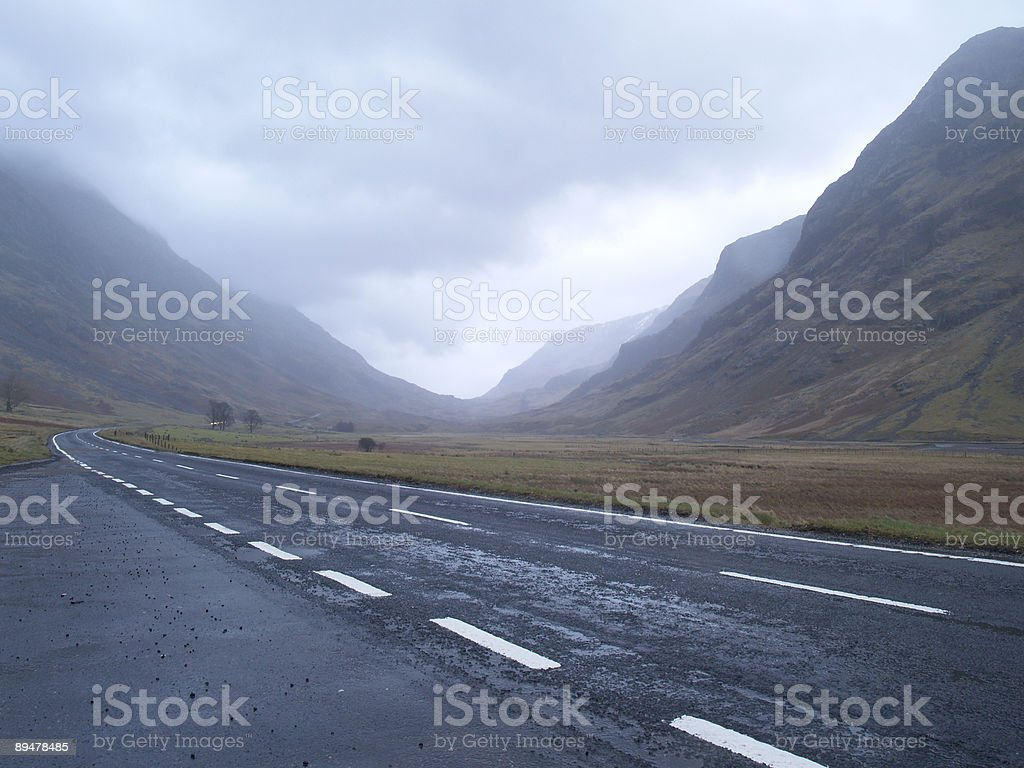 road through Scotland royalty-free stock photo