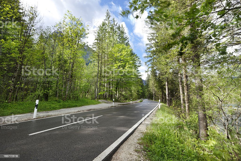 Road through the German Alps royalty-free stock photo