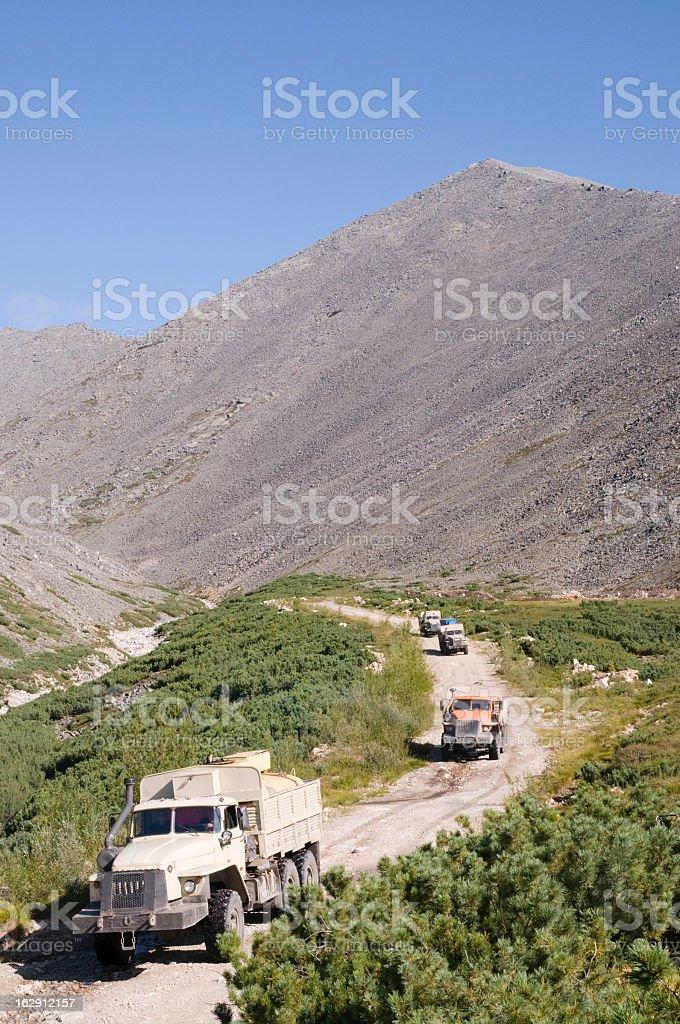 Road through the mountain pass royalty-free stock photo