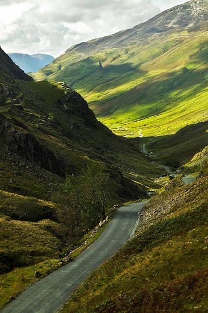 Road through the mountain stock photo