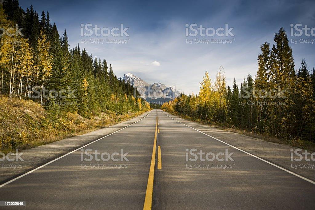 Road through the mountains stock photo