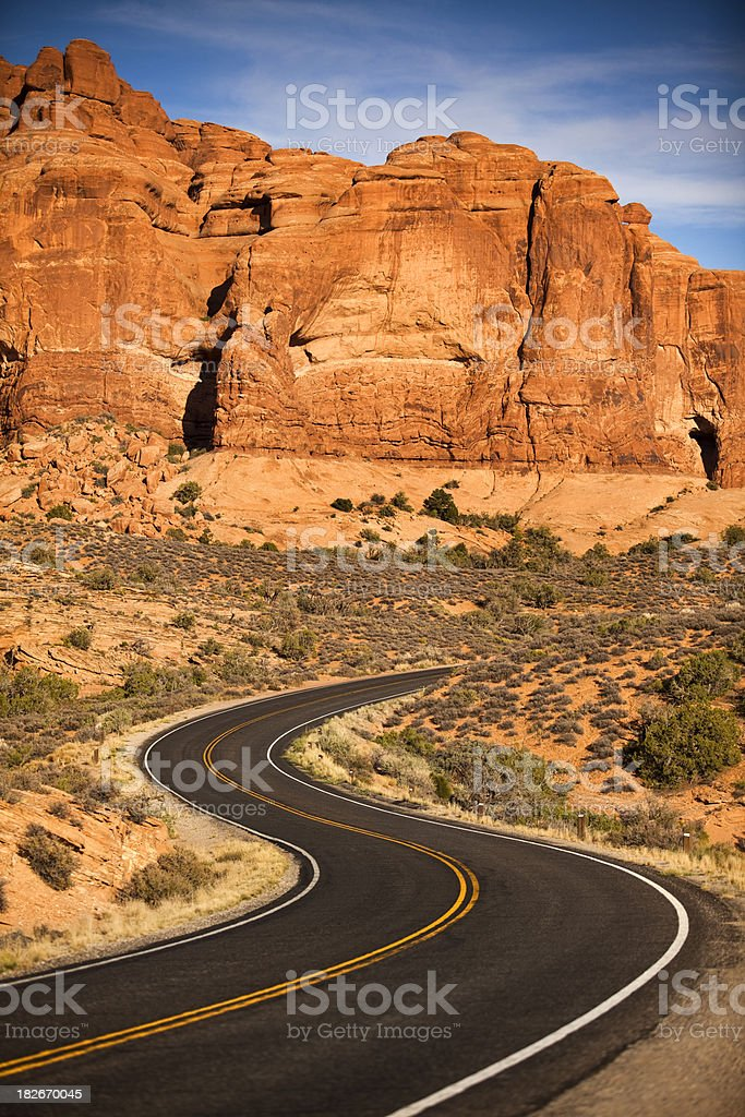 Road through the mountains royalty-free stock photo