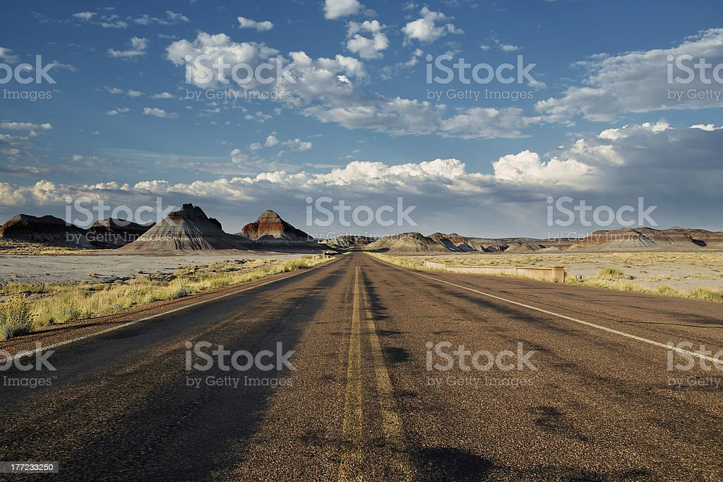 Road through the Painted Desert stock photo