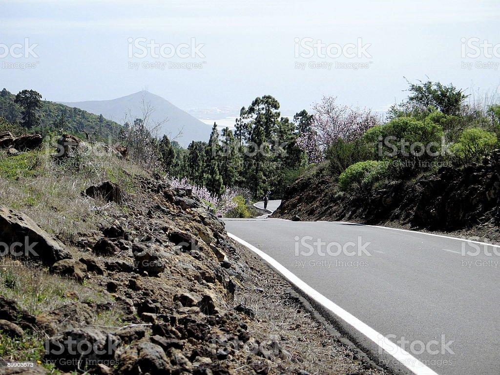 Road through volcanic rock royalty-free stock photo