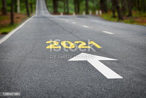 1081330336 istock photo Road to 2021 1250421931