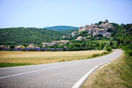 road to a small town in Provence