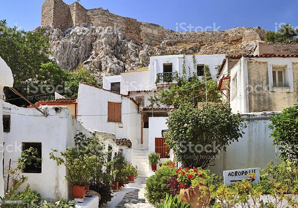 Road to Acropolis stock photo