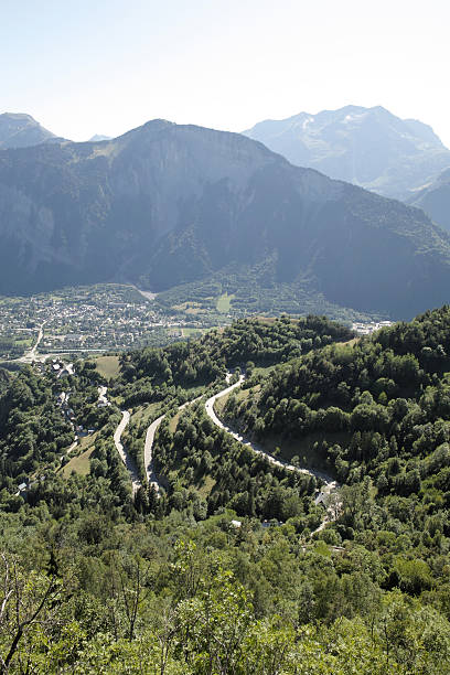 road to Alpe D' Huez in  Hautes Alpes France​​​ foto