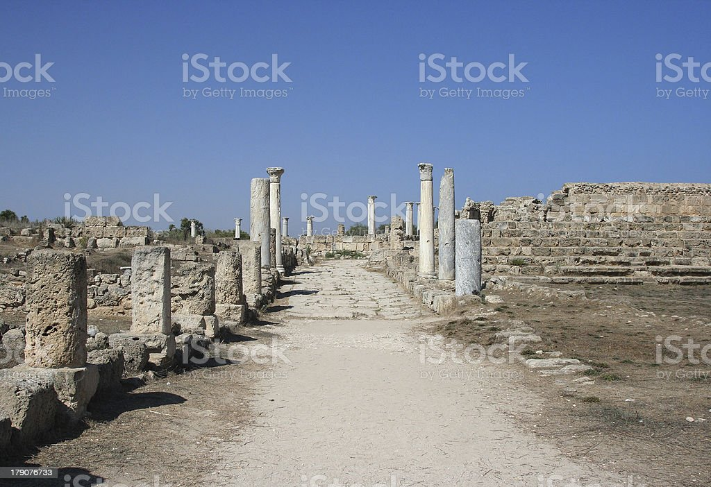 Road to Antique History royalty-free stock photo