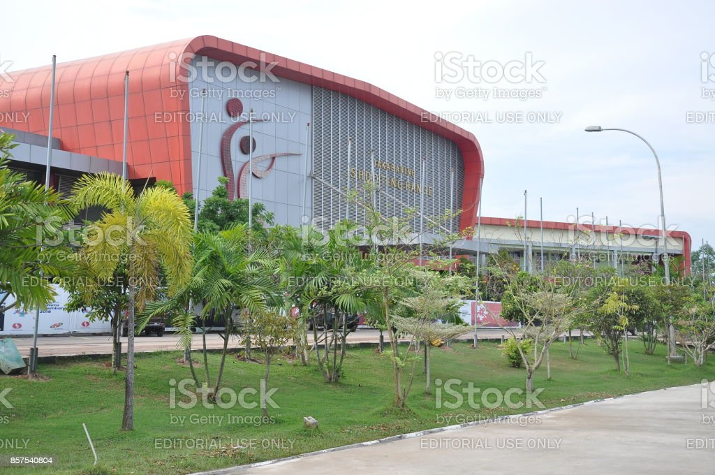 Road to asian games 2018 stock photo