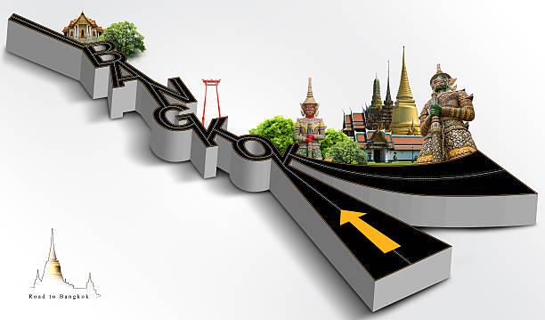 Reisen nach bangkok, concept – Foto