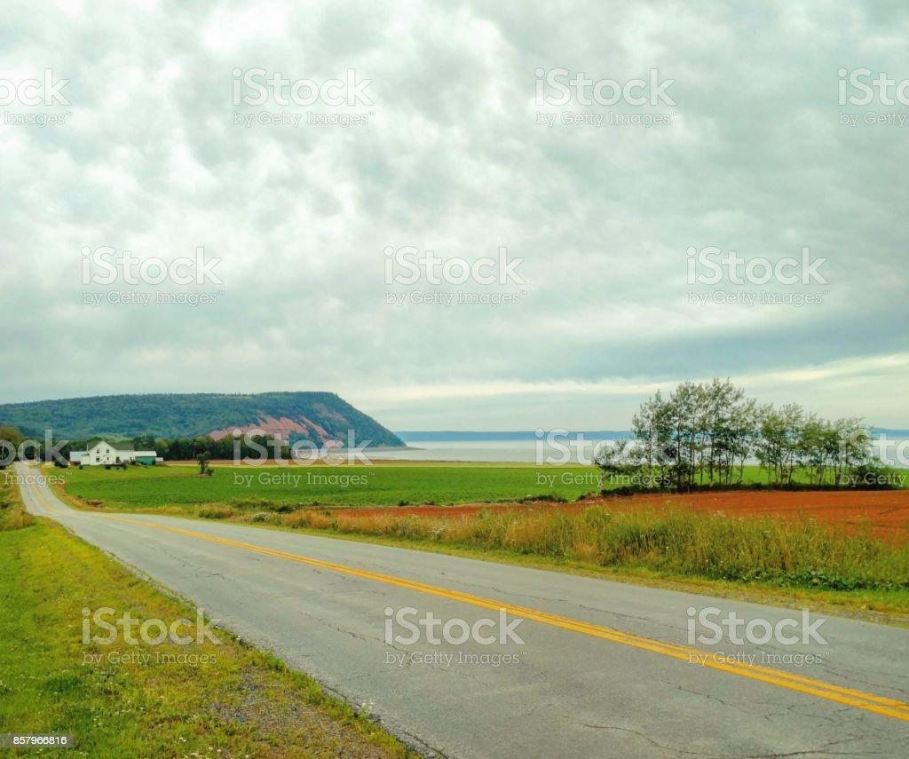 Road to Blomidon stock photo