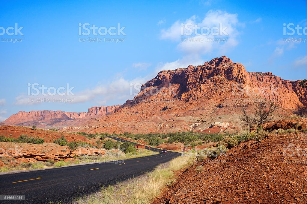 Road to Capitol Reef National Park, Utah stock photo