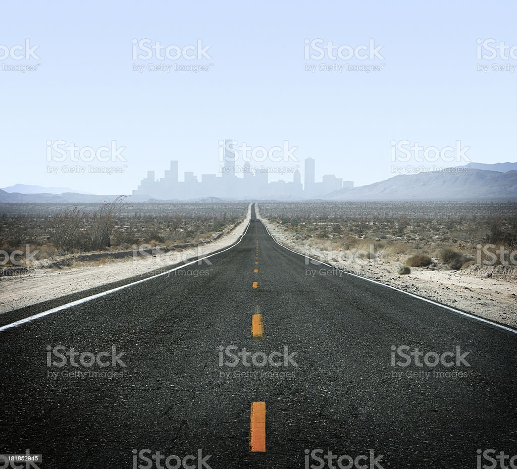 Road to City royalty-free stock photo