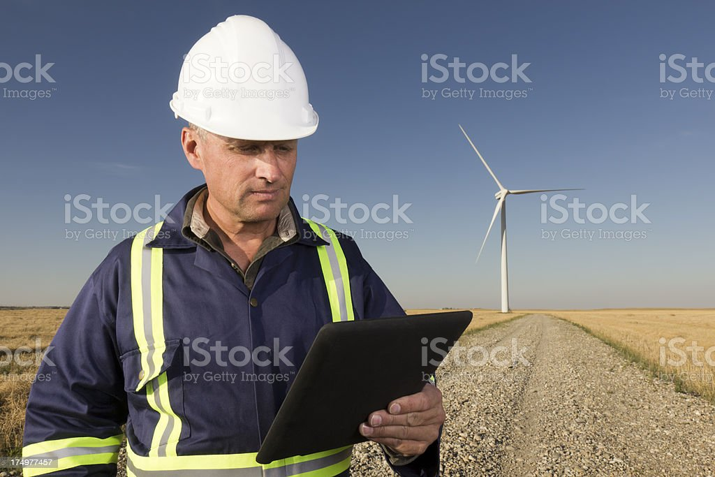 Road to Clean Energy stock photo