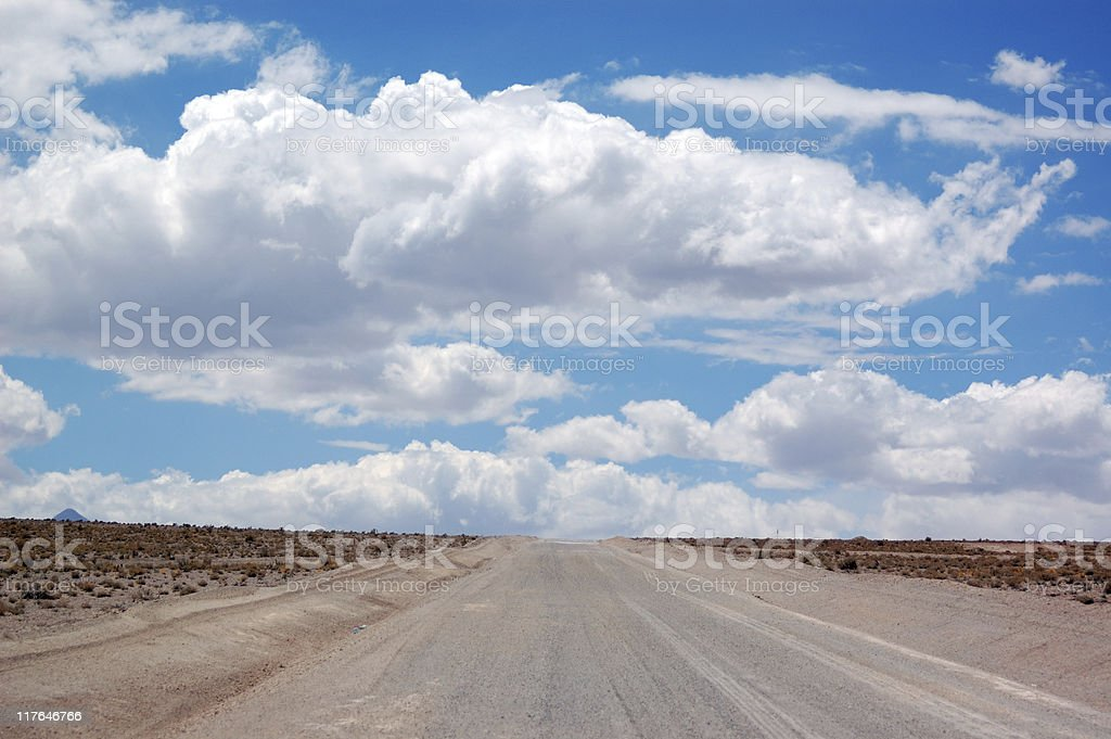 Road to clouds over horizon royalty-free stock photo