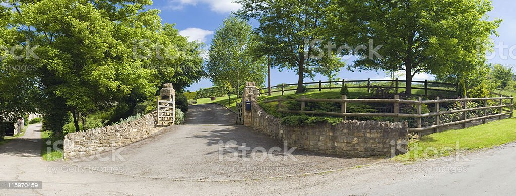 Road to country living royalty-free stock photo