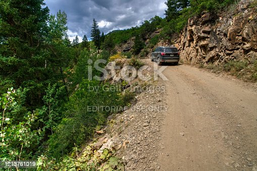 Carbondale, Colorado, USA  - August 31, 2019: Road to Crystal Mill.