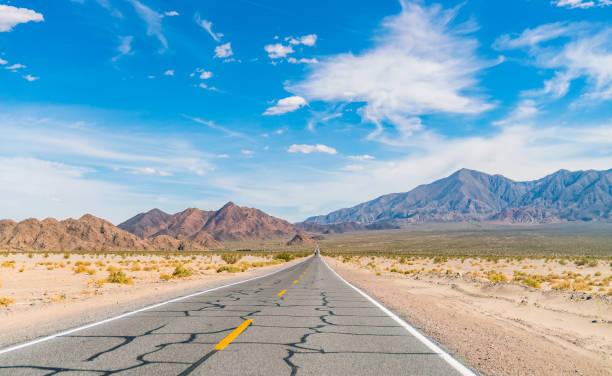 road to death valley national park,california,usa. stock photo