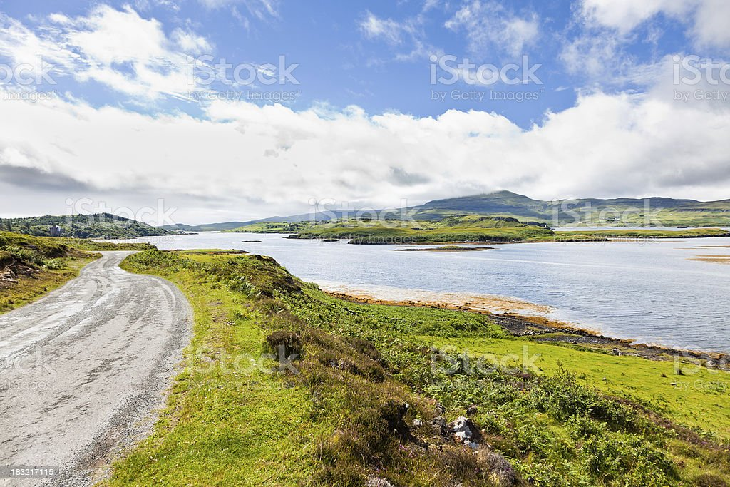 Road to Dunvegan Castle stock photo