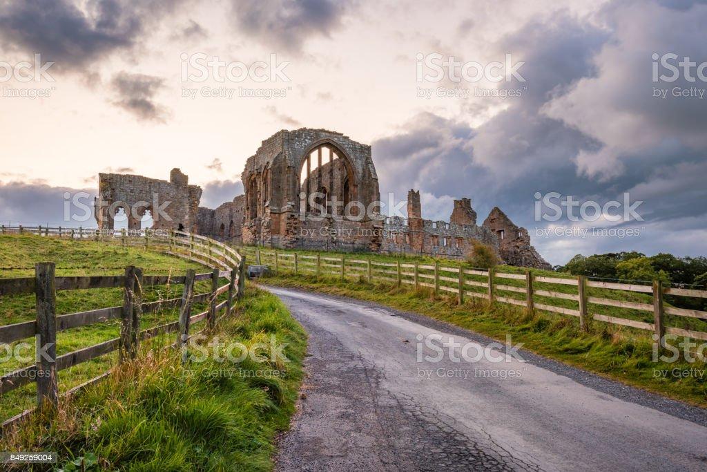 Road to Egglestone Abbey stock photo