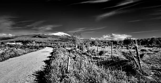 Road to Etna stock photo
