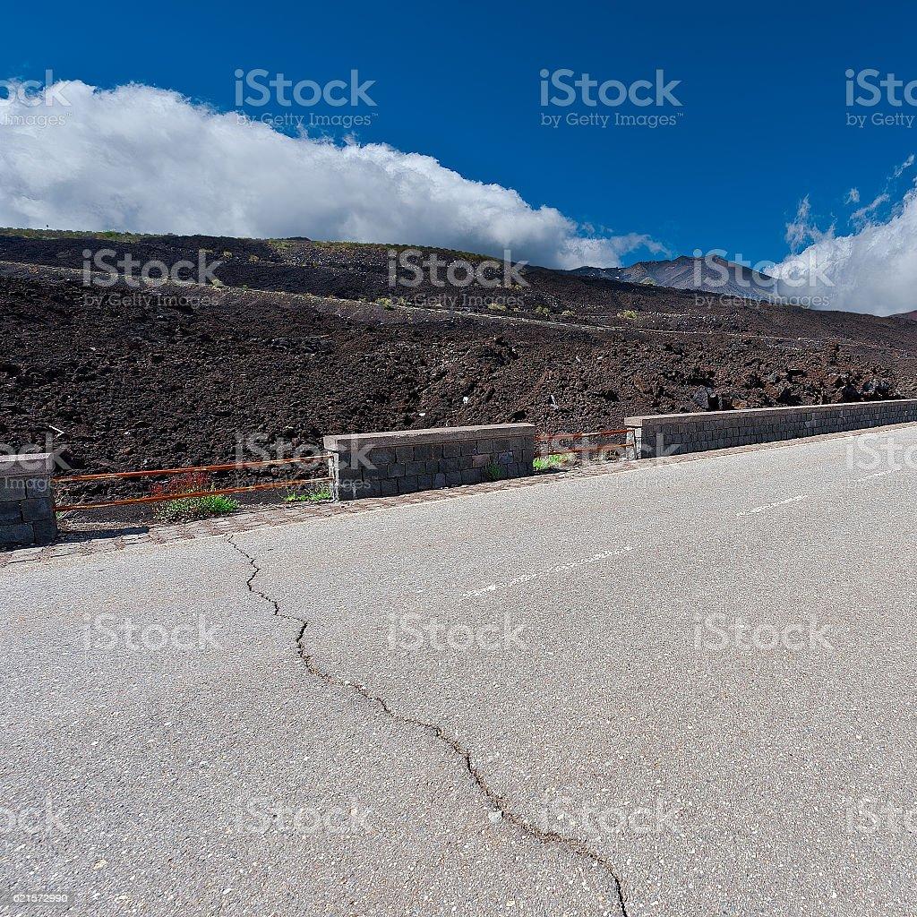 Route de l'Etna photo libre de droits