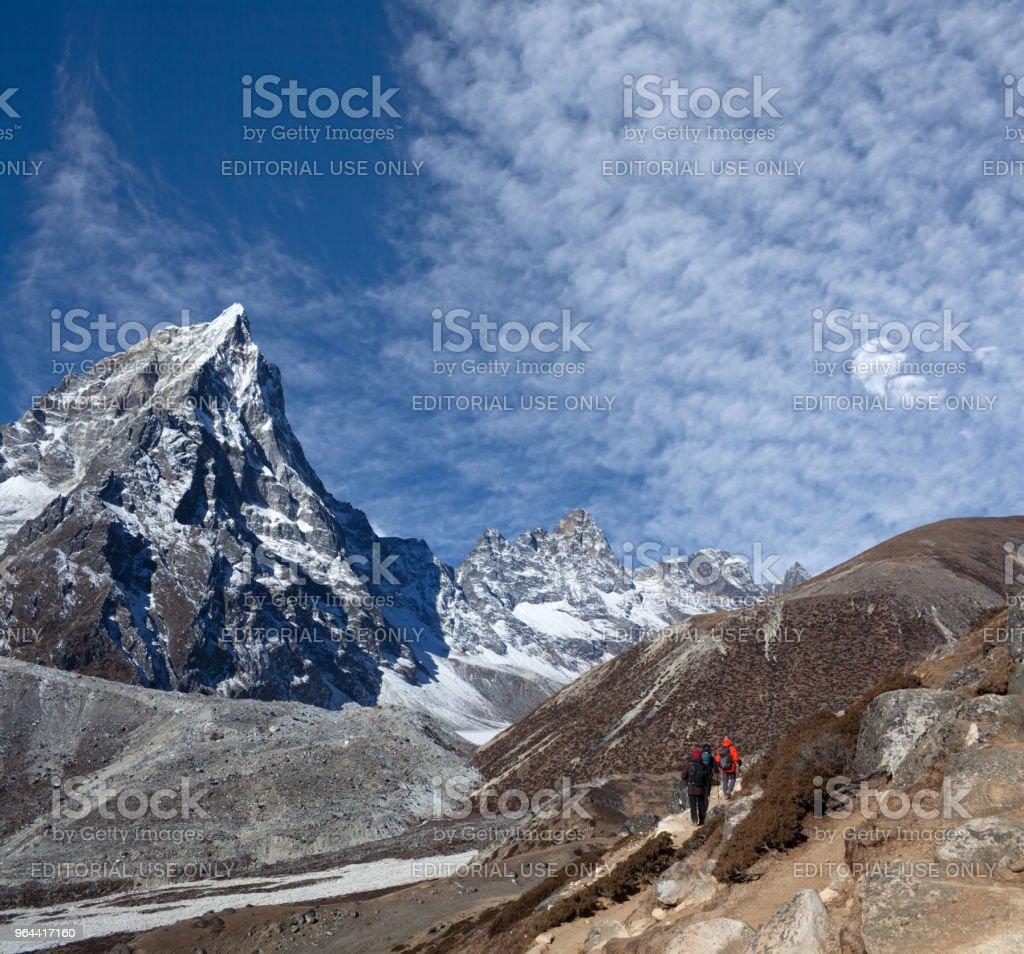 Road to Everest Base camp in Sagarmatha National Park, Nepal - Royalty-free Activity Stock Photo