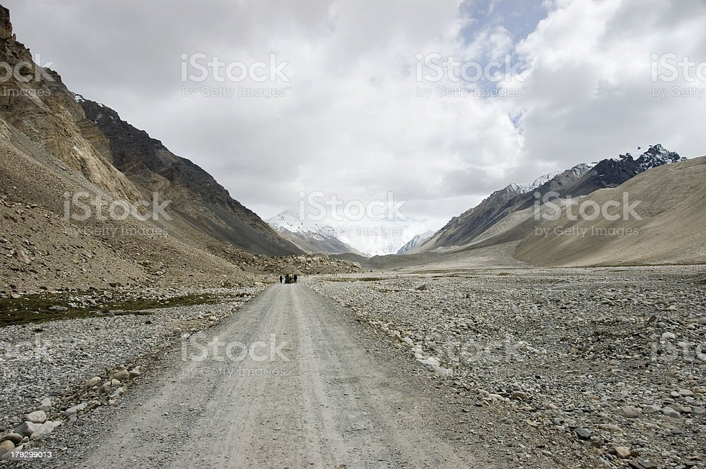 Road to Everest Base Camp stock photo
