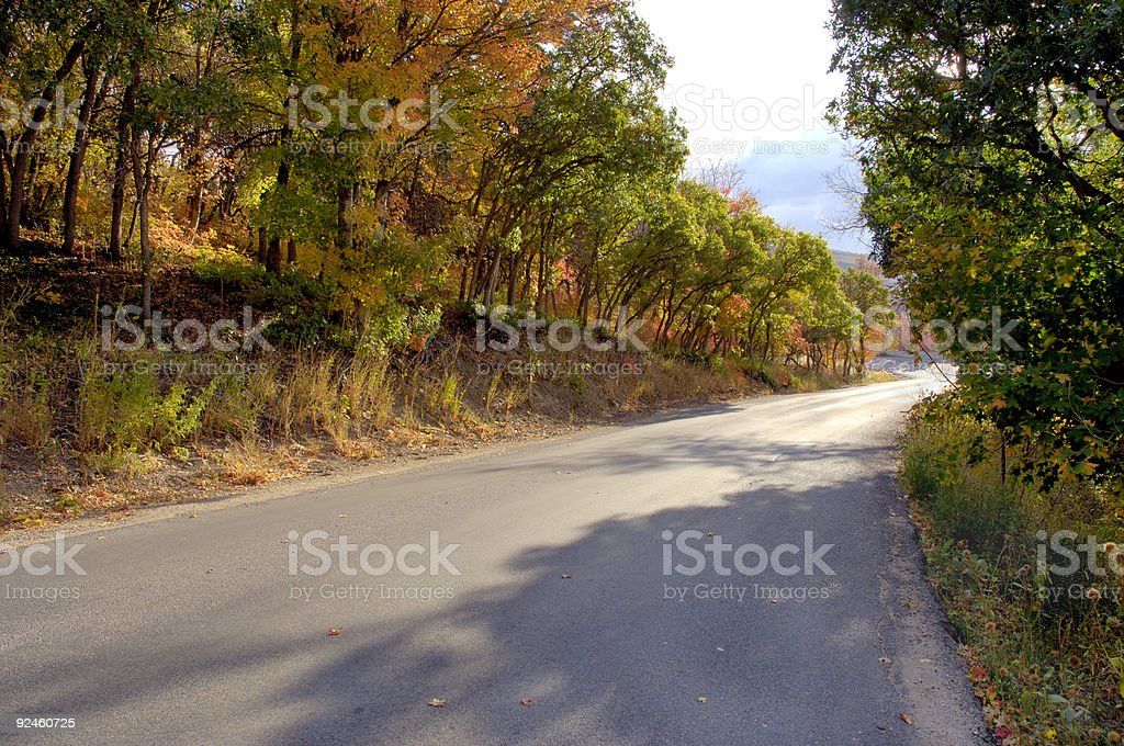 Road To Fall royalty-free stock photo