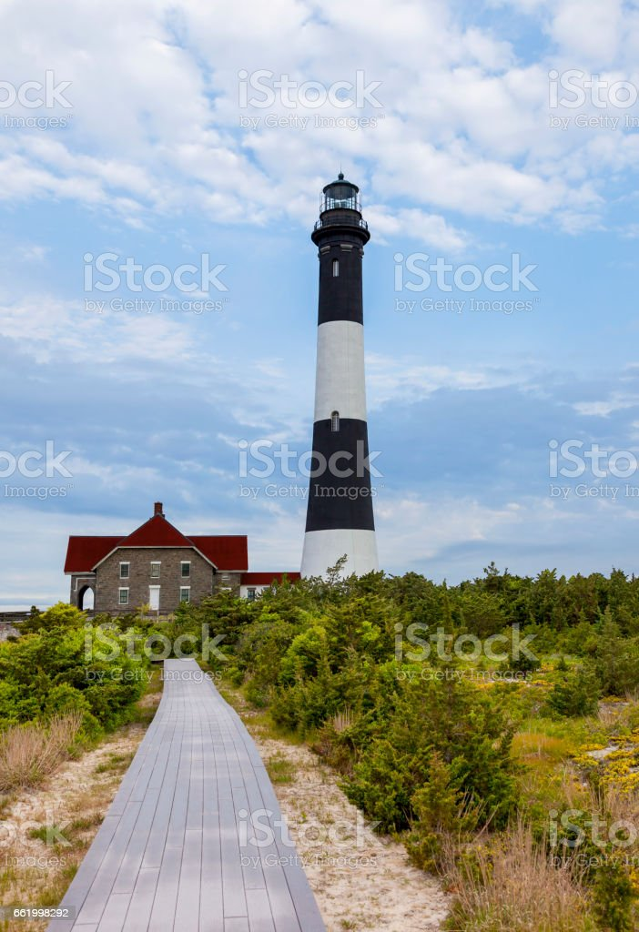 Road to Fire Island Lighthouse royalty-free stock photo