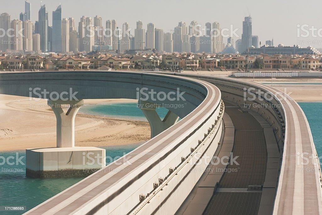 Road to future. Dubai stock photo