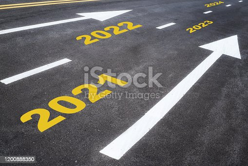 1081389658 istock photo Road to future, number 2021 to 2024 on asphalt road with arrow 1200888350