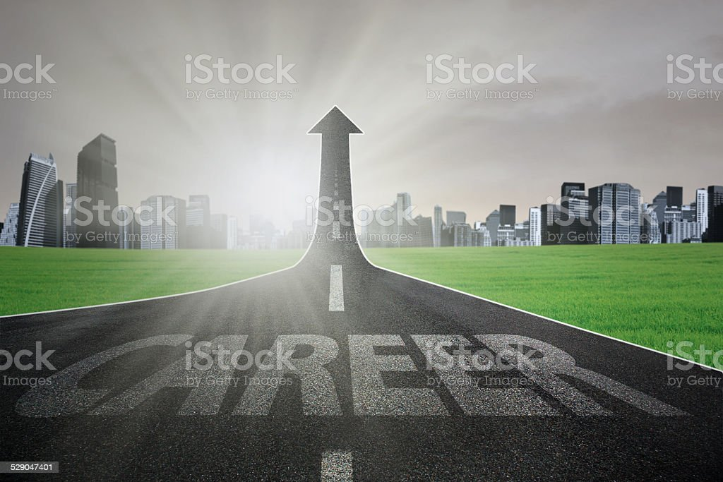 Road to gain better career stock photo