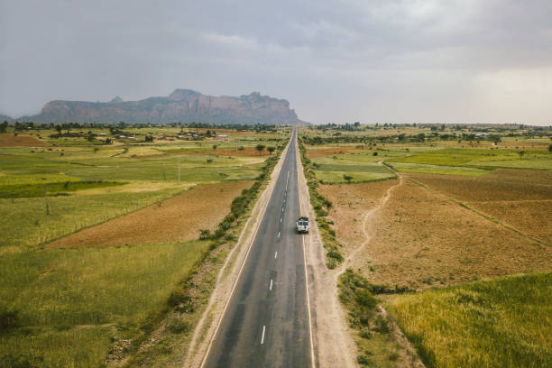 road to gheralta mountains in ethiopia - horn of africa stock photos and pictures