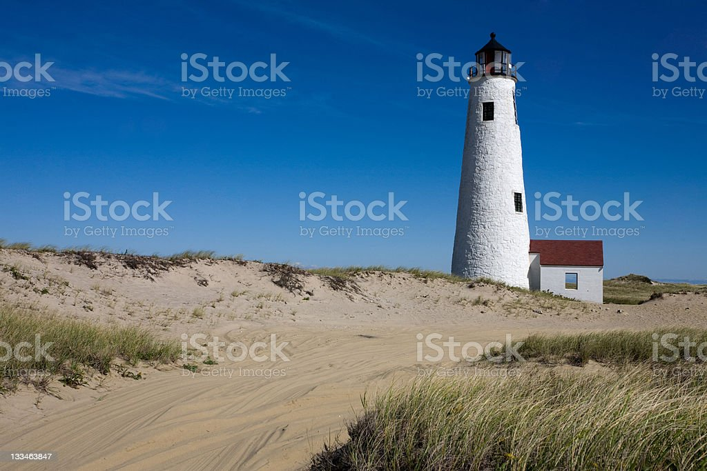 Road to Great Point Light stock photo